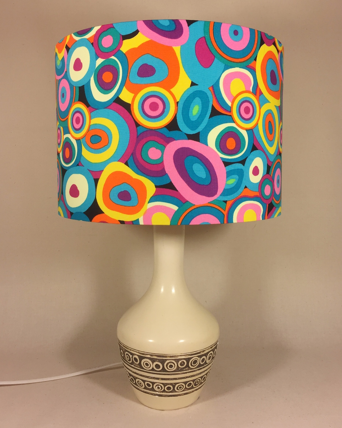 Fantasia vintage lamp with handmade shade