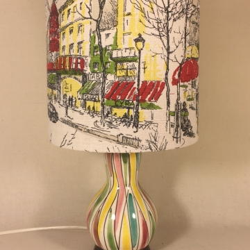 'Moulin Rouge' vintage lamp