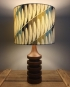 Surf's Up vintage lamp with handmade shade
