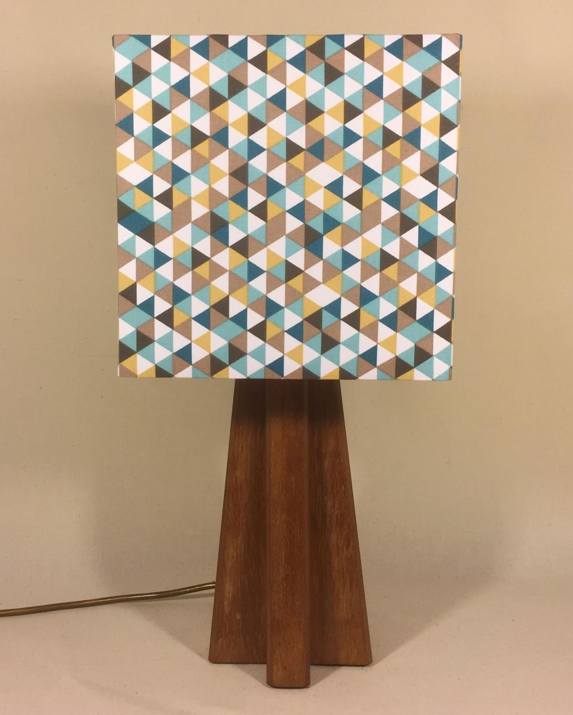 Cornerstone vintage lamp with handmade shade