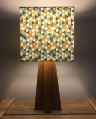 Cornerstone vintage lamp with handmade shade