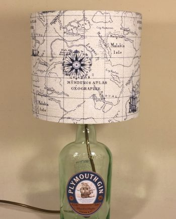 Bespoke lampshade in Nautical map fabric