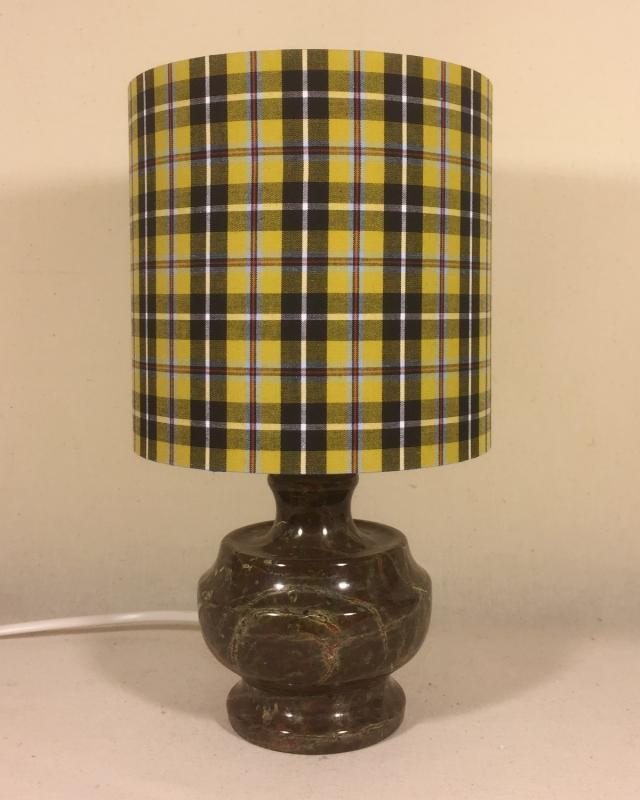 Poldark vintage lamp with handmade shade
