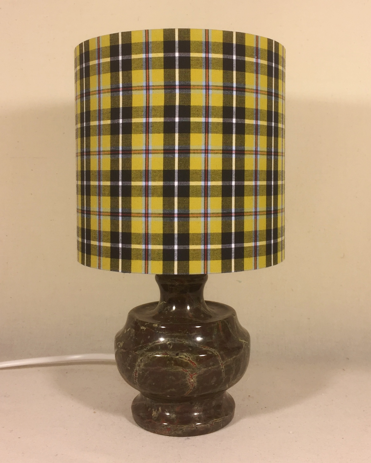 Poldark vintage lamp with handmade shade