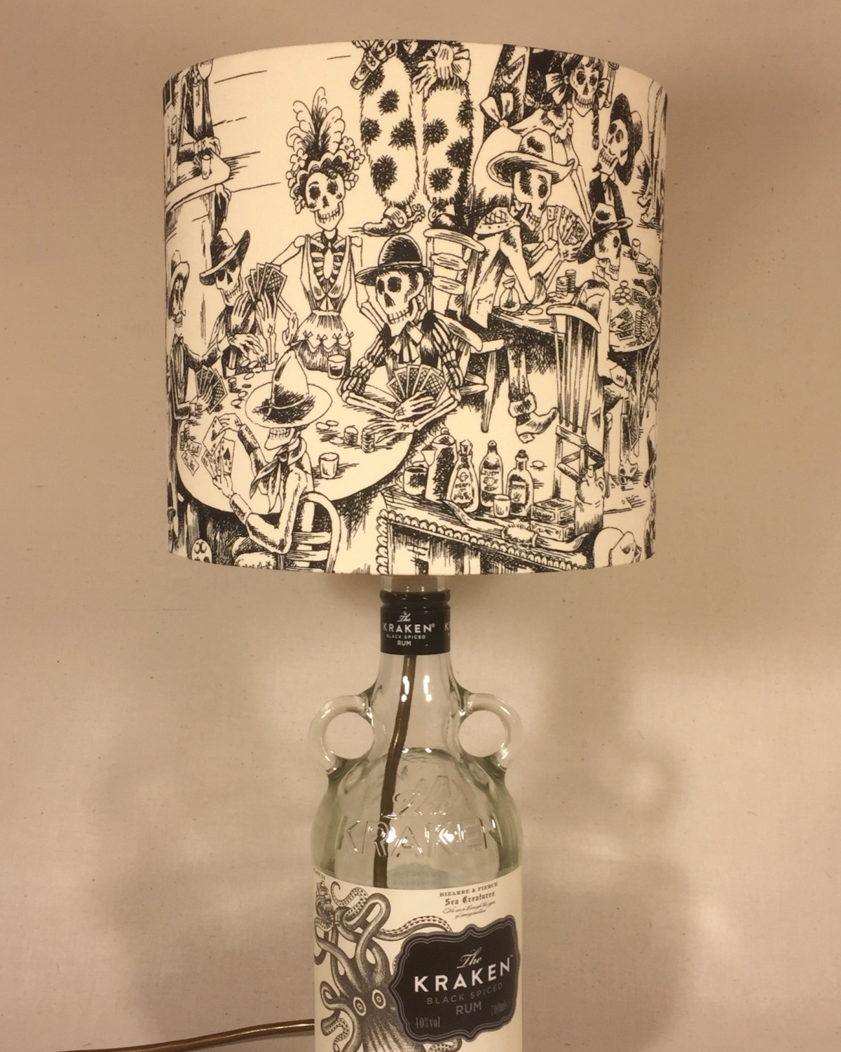 Skeleton saloon bespoke lampshade