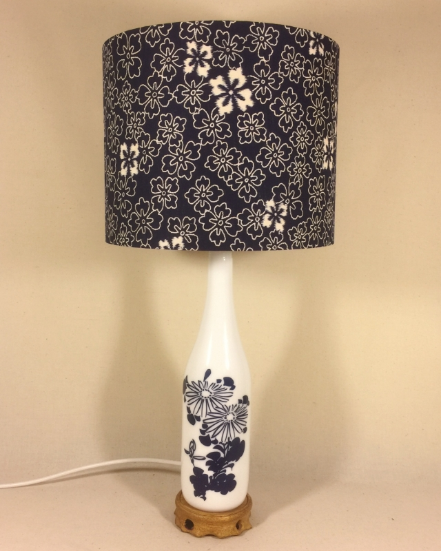 The Best Medicine vintage lamp and handmade shade
