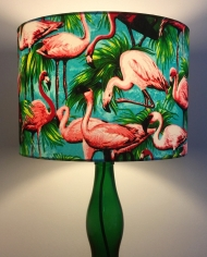 Bespoke lampshade in Tropical Flamingo fabric