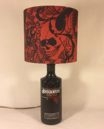 Brockstar upcycled bottle lamp with handmade shade