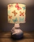 Madame Butterfly vintage lamp with handmade shade