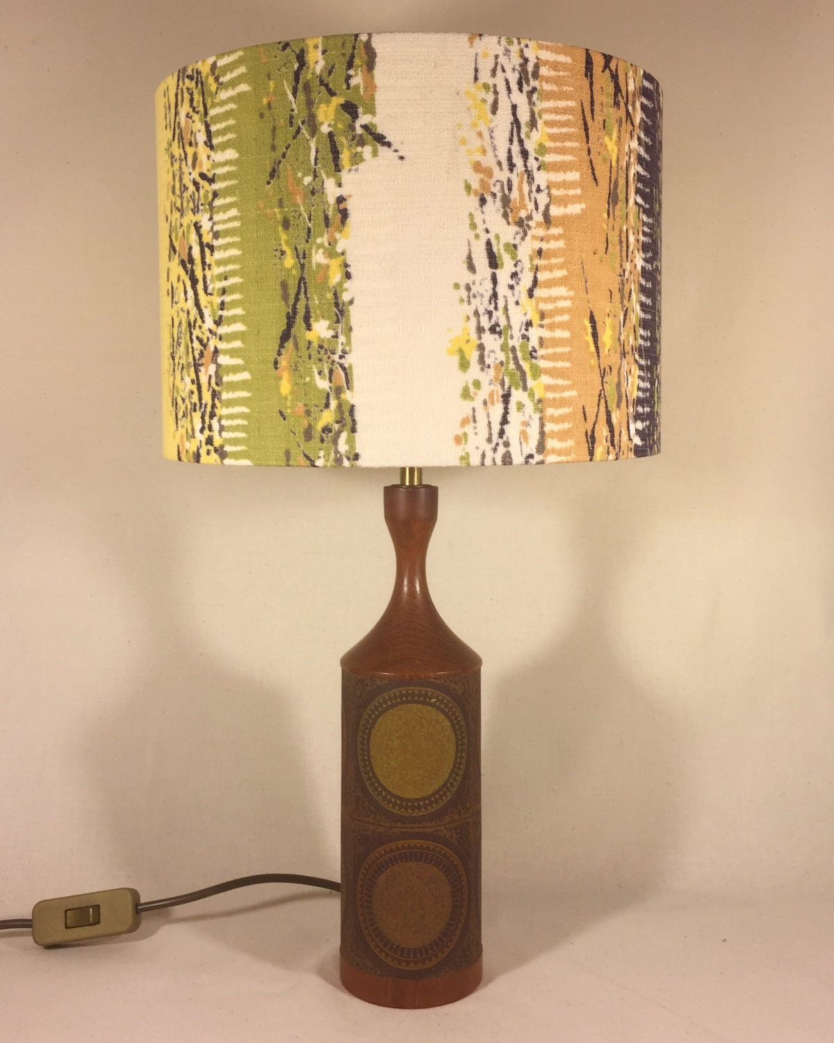 The Good Life vintage lamp and handmade shade
