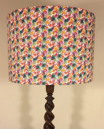 Bespoke lampshade in Ibiza Berry fabric