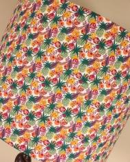 Bespoke lampshade in Ibiza Berry fabric