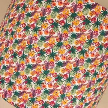 Fruit Twist vintage lamp and handmade shade