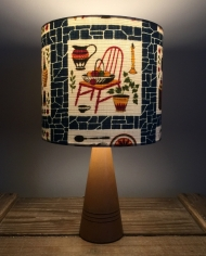 Homemaker vintage lamp with handmade shade
