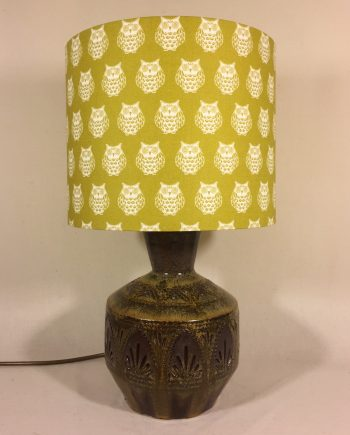Owl About the Base vintage lamp and handmade shade