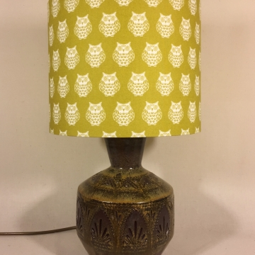 'Owl About the Base' vintage lamp