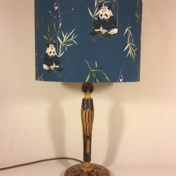 'Panda-monium' vintage lamp