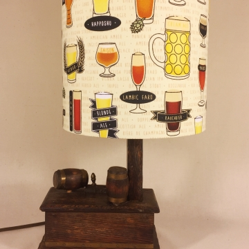 'Time at the Bar' vintage lamp
