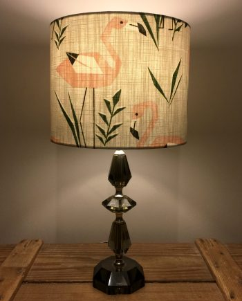 Whats your angle vintage lamp with handmade shade