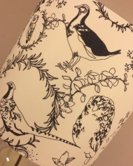 Bespoke lampshade in Woodland Creatures fabric