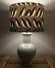 Precious Cargo vintage lamp with handmade shade