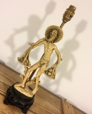 Snap Dragon vintage lamp with handmade shade