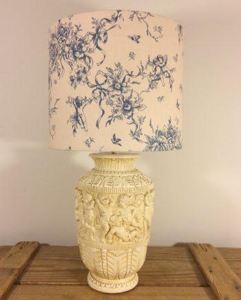 Cherubim & Seraphim vintage lamp with handmade shade