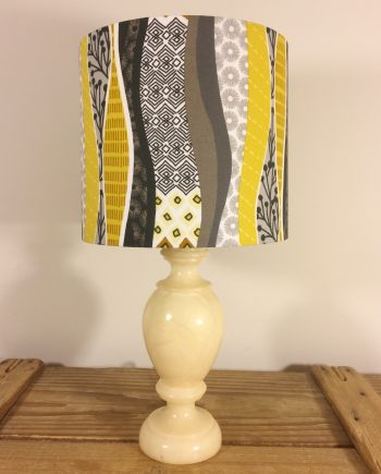 Fields of Gold vintage lamp with handmade shade