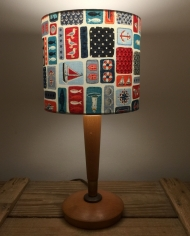 On Deck vintage lamp with handmade shade