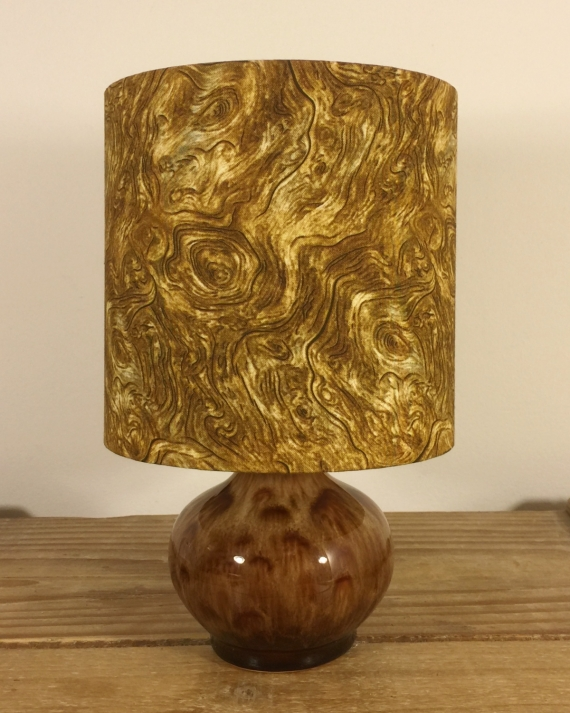 Science & Nature vintage lamp with handmade shade