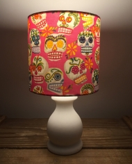 Smile! vintage lamp with handmade shade