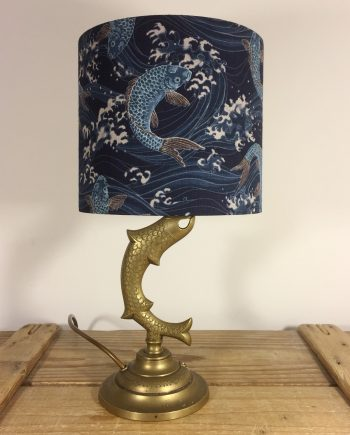 Elegant Swim vintage lamp with handmade shade