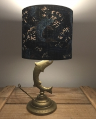 Elegant Swim vintage lamp with handmade shade