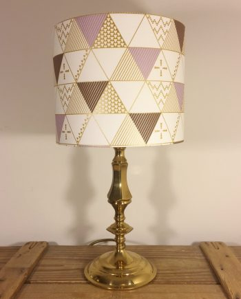 Geometry vintage lamp with handmade shade