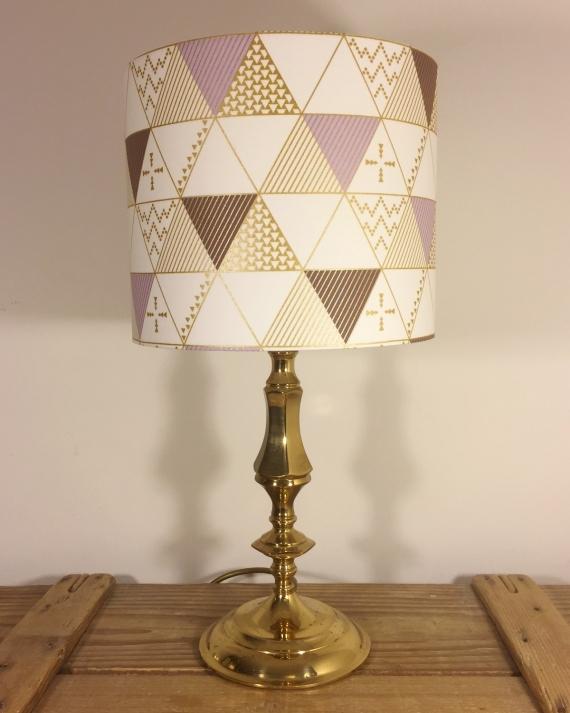 Geometry vintage lamp with handmade shade