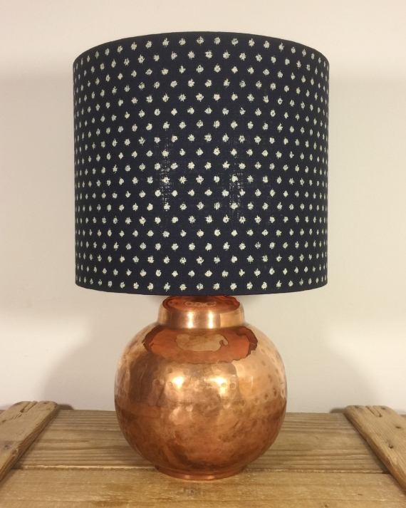 Spot the Ball vintage lamp with handmade shade