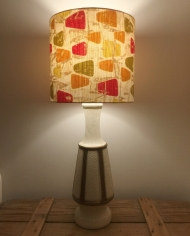 Homemaker vintage lamp with handmade shade