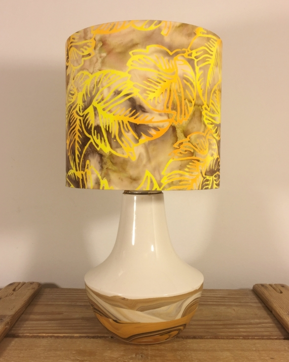 Autumn Sun vintage lamp and shade