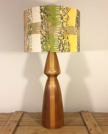 Earn Your Stripes vintage lamp with handmade shade
