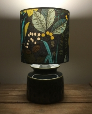 Gone to Seed vintage lamp and handmade shade