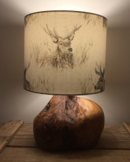 The Stag's Head vintage lamp and handmade shade