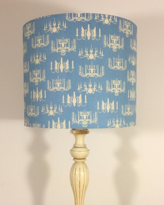 Bespoke lampshade in candelabra fabric