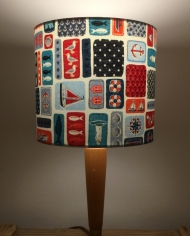 Bespoke lampshade in Nautical Icons fabric