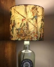 Bespoke lampshade in Pirate Skeleton fabric