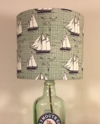 Bespoke lampshade in Ship Shape fabric