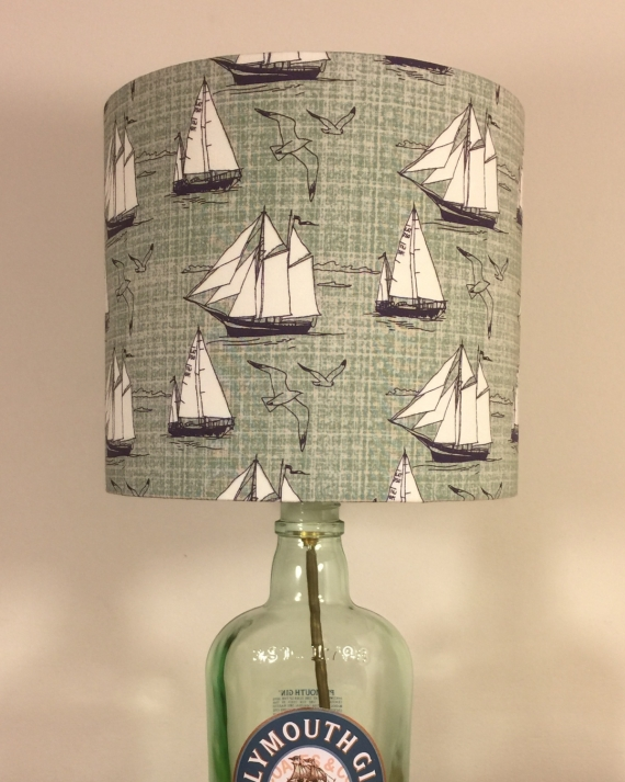 Bespoke lampshade in Ship Shape fabric