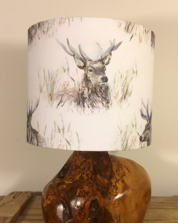 Bespoke lampshade in Stag's Head fabric