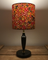 West Egg vintage lamp with handmade shade