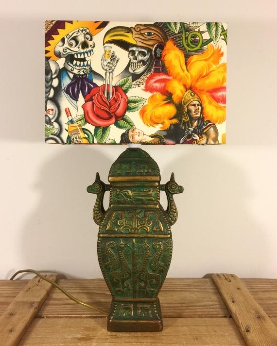 Aztec Dream vintage lamp and handmade shade