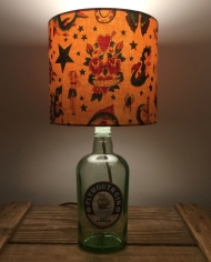 Drunk and in Love bottle lamp with handmade shade